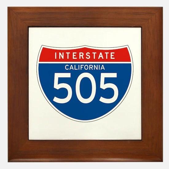 Interstate 505 - CA Framed Tile
