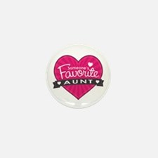 Favorite Aunt Pink Mini Button (10 pack)