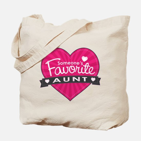 Favorite Aunt Pink Tote Bag