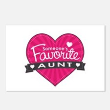Favorite Aunt Pink Postcards (Package of 8)