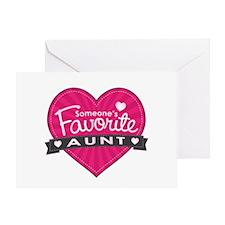 Favorite Aunt Pink Greeting Card