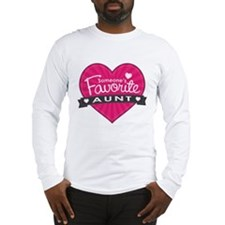 Favorite Aunt Pink Long Sleeve T-Shirt