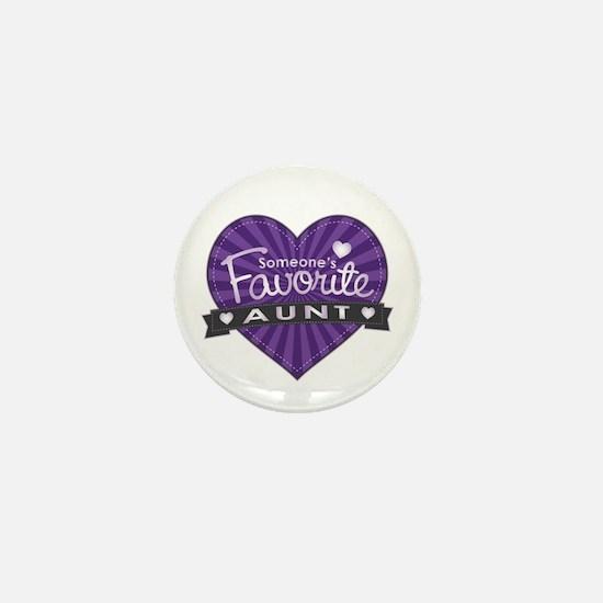 Favorite Aunt Purple Mini Button