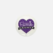 Favorite Aunt Purple Mini Button (10 pack)