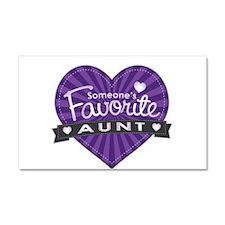 Favorite Aunt Purple Car Magnet 20 x 12