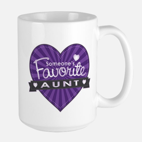 Favorite Aunt Purple Large Mug