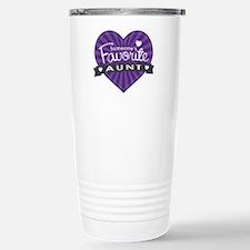 Favorite Aunt Purple Travel Mug