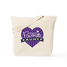 Favorite Aunt Purple Tote Bag
