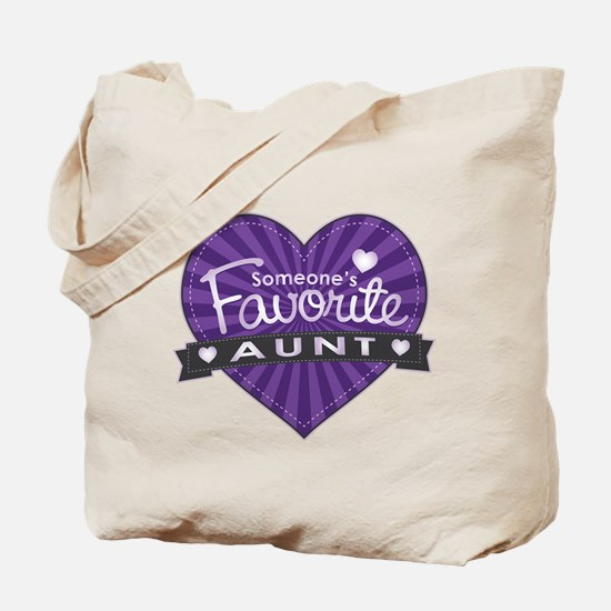 Favorite Aunt Purple Tote Bag