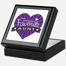 Favorite Aunt Purple Keepsake Box