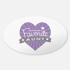 Favorite Aunt Purple Sticker (Oval)