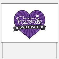 Favorite Aunt Purple Yard Sign