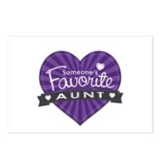Favorite Aunt Purple Postcards (Package of 8)