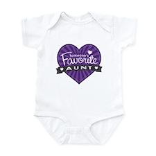 Favorite Aunt Purple Infant Bodysuit