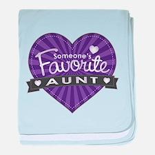 Favorite Aunt Purple baby blanket
