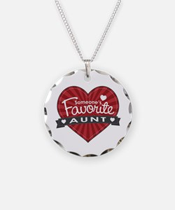Favorite Aunt Red Necklace