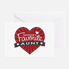 Favorite Aunt Red Greeting Card