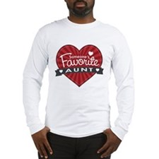 Favorite Aunt Red Long Sleeve T-Shirt