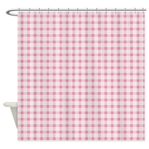 Gingham Curtains Red And White Gingham Curtains Kitchen: Pink Gingham Shower Curtain By Be_inspired_by_life