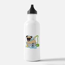 Male Pug Dog Bath Time Water Bottle