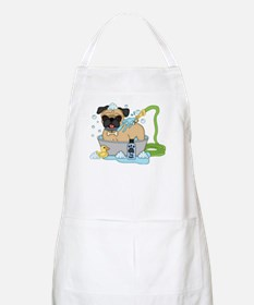 Male Pug Dog Bath Time Apron