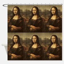 Vintage Mona Lisa Shower Curtain