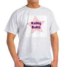 Kailey Rules Ash Grey T-Shirt