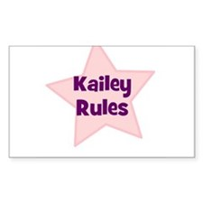 Kailey Rules Rectangle Decal