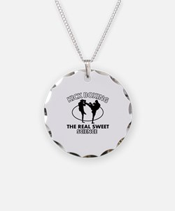 Kick Boxing the real sweet science Necklace