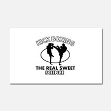 Kick Boxing the real sweet science Car Magnet 20 x