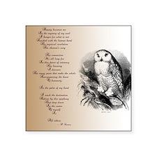Owl with poem Sticker