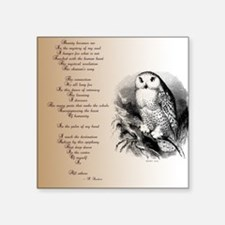 Owl with poem Sticker