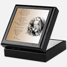 Owl with poem Keepsake Box