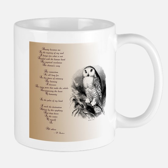 Owl with poem Mug