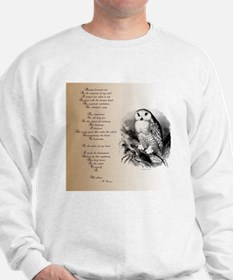 Owl with poem Sweatshirt