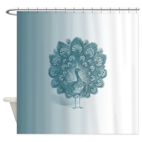 Teal Peacock Shower Curtain By Be Inspired By Life