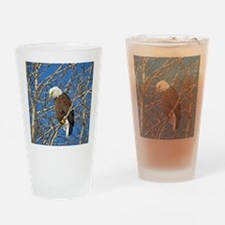 Magnificent Bald Eagle Drinking Glass