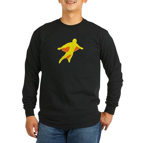 Wingsuit Silhouette 2 Yellow Long Sleeve T-Shirt