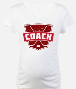 Hockey Coach Shield (red) Shirt