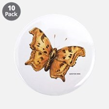 "Question Mark Butterfly 3.5"" Button (10 pack)"