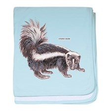 Striped Skunk baby blanket