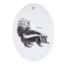 Striped Skunk Ornament (Oval)