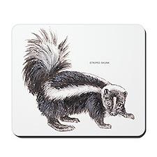 Striped Skunk Mousepad