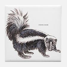 Striped Skunk Tile Coaster