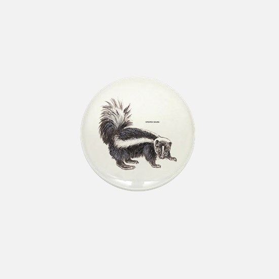 Striped Skunk Mini Button