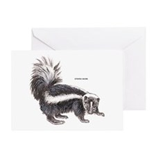 Striped Skunk Greeting Card