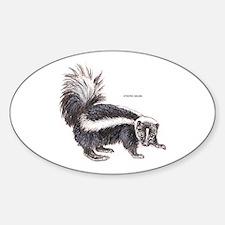 Striped Skunk Sticker (Oval)