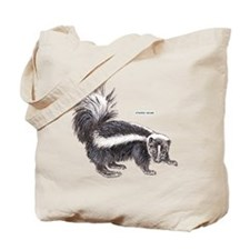 Striped Skunk Tote Bag