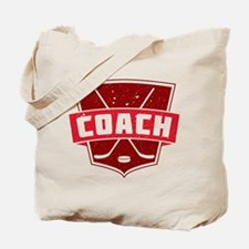 Hockey Coach Shield (red) Tote Bag