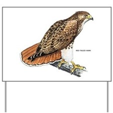 Red-Tailed Hawk Bird Yard Sign